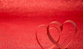 Coração vermelho da fita Imagem de Stock Royalty Free