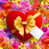 Coração vermelho dado forma foto de stock royalty free