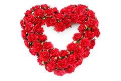 Coração vermelho das rosas fotos de stock