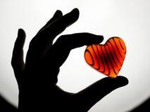 Coração vermelho de brilho Foto de Stock Royalty Free
