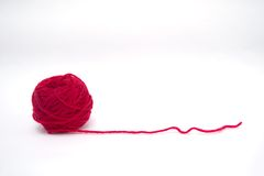 Coração vermelho de lãs Fotografia de Stock Royalty Free