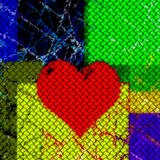 Coração vermelho do amor Ilustração Stock