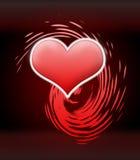 Coração vermelho do amor Imagens de Stock