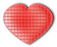 Coração vermelho do chocolate Fotos de Stock