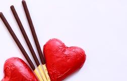 Coração vermelho do chocolate Foto de Stock Royalty Free