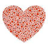 Coração vermelho do vetor Imagem de Stock