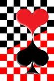 Coração vermelho e coração preto ilustração royalty free