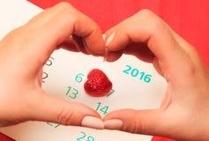 Coração vermelho e do dia de Valentim Fotografia de Stock Royalty Free