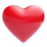 Coração vermelho em um fundo branco Foto de Stock Royalty Free