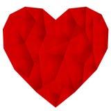Coração vermelho enrugado do vetor Imagens de Stock