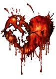 Coração vermelho ensanguentado Fotos de Stock