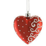 Coração vermelho - esfera do Natal fotos de stock royalty free