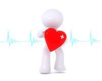 Coração vermelho ferido Imagem de Stock Royalty Free