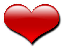 Coração vermelho grande ilustração do vetor