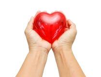 Coração vermelho grande Fotos de Stock Royalty Free