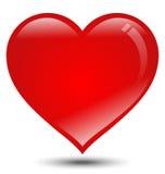 Coração vermelho grande no fundo branco Imagem de Stock