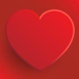 Coração vermelho - ilustração do dia de Valentim Imagem de Stock