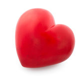 Coração vermelho isolado no branco Imagem de Stock Royalty Free