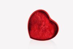 Coração vermelho isolado no fundo branco Foto de Stock Royalty Free