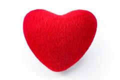 Coração vermelho macio Fotos de Stock Royalty Free