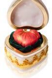 Coração vermelho na gaveta Fotografia de Stock Royalty Free