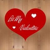 Coração vermelho na textura de madeira Imagem de Stock Royalty Free