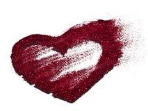 Coração vermelho no fundo branco Fotos de Stock