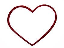 Coração vermelho no fundo branco Fotografia de Stock