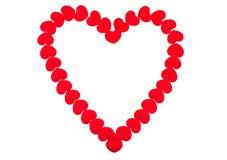 Coração vermelho no fundo branco Imagem de Stock
