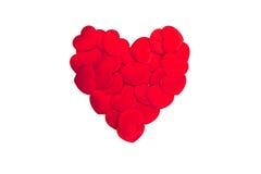 Coração vermelho no fundo branco Fotos de Stock Royalty Free