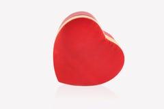 Coração vermelho no fundo branco Fotografia de Stock Royalty Free