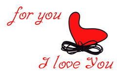 Coração vermelho para você eu te amo fotos de stock