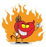 Coração vermelho pecador e impertinente Imagens de Stock