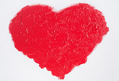 Coração vermelho pintado foto de stock royalty free