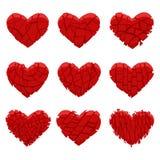 Coração vermelho quebrado Imagens de Stock Royalty Free