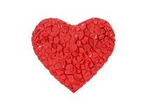 Coração vermelho quebrado Foto de Stock