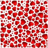 Coração vermelho, roxo Teste padrão dos ícones dos corações em tamanhos diferentes Molde vazio para cartões de cumprimentos ilustração royalty free