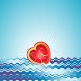 Coração vermelho, vetor, Valentim ilustração royalty free