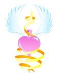 Coração voado Fotografia de Stock