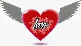 Coração voado ilustração do vetor