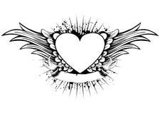 Coração Wings Imagens de Stock