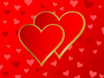 Corações 2 Imagens de Stock
