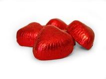 Corações 2 do chocolate (trajeto incluído) Fotos de Stock Royalty Free