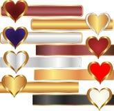 Corações Imagem de Stock
