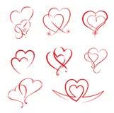 Corações ilustração do vetor