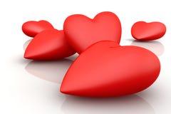 corações 3D Fotografia de Stock