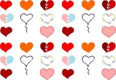 Corações ilustração stock