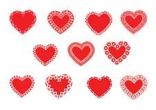 Corações Imagens de Stock Royalty Free