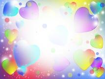 Corações abstratos coloridos Imagens de Stock Royalty Free