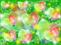 Corações abstratos coloridos Fotos de Stock Royalty Free